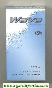 Wave 100s Ultra Lights cigarettes hard box