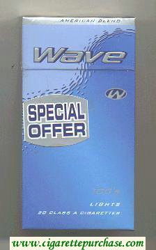 Discount Wave Special Offer 100s Lights cigarettes hard box