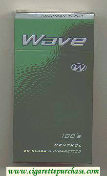 Discount Wave 100s Menthol cigarettes hard box