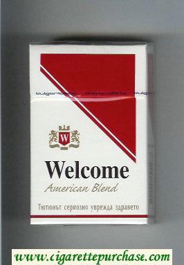 Welcome American Blend cigarettes hard box
