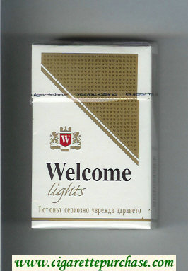 Welcome Lights cigarettes hard box