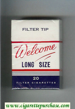Welcome Long Size Filter Tip cigarettes hard box