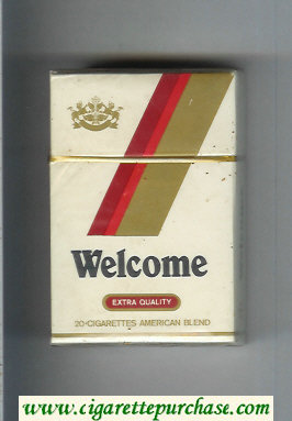 Welcome Extra Quality American Blend cigarettes hard box