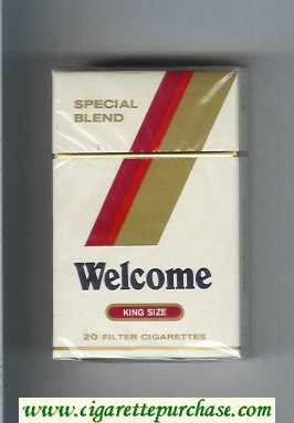 Welcome Special Blend King Size cigarettes hard box