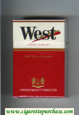 West American Blend Full Flavor cigarettes hard box