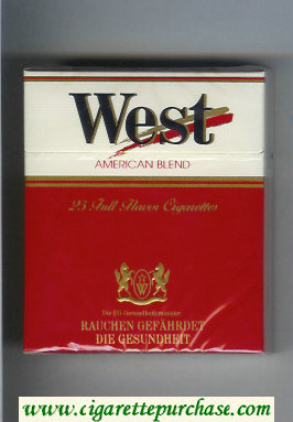 West American Blend 25 Full Flavor cigarettes hard box