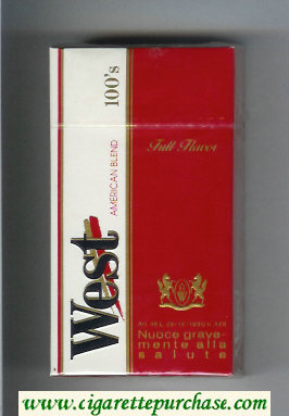 West American Blend 100s Full Flavor cigarettes hard box