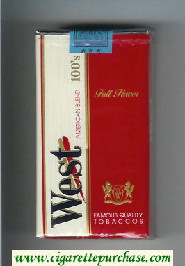 West American Blend 100s Full Flavor cigarettes soft box
