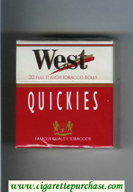 West Quickies 30 Full Flavor cigarettes hard box