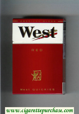 West Red West Quickies cigarettes hard box
