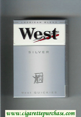 West Silver West Quickies cigarettes hard box
