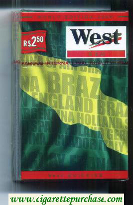 West Red World cigarettes Edition 2006 Brazil hard box