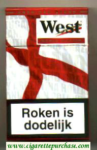 West Red World cigarettes Edition 2006 England hard box
