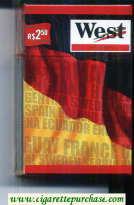 West Red World cigarettes Edition 2006 Germany hard box