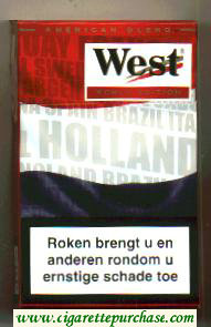 West Red World cigarettes Edition 2006 Holland hard box