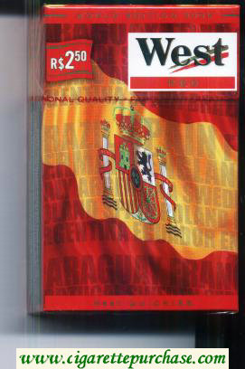 West Red World cigarettes Edition 2006 Spain hard box