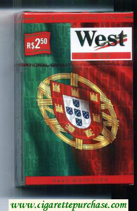 West Red World cigarettes Edition 2006 Portugal hard box