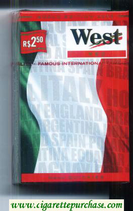 West Red World cigarettes Edition 2006 Italy hard box