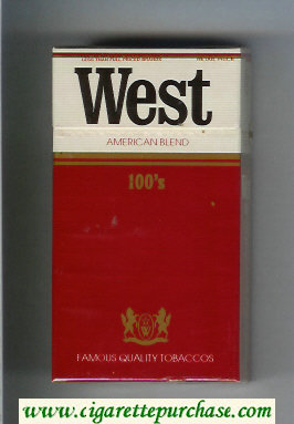 West American Blend 100s cigarettes hard box