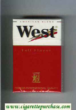 West 'R' Full Flavor American Blend cigarettes hard box
