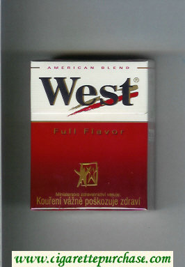 West 'R' Full Flavor American Blend hard box cigarettes