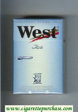 West 'R' Ice Cool Blend cigarettes hard box
