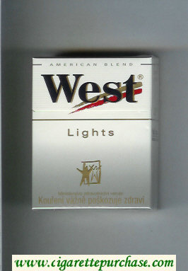 West 'R' Lights American Blend hard box cigarettes