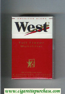 West 'R' Multifilter Full Flavor American Blend cigarettes hard box
