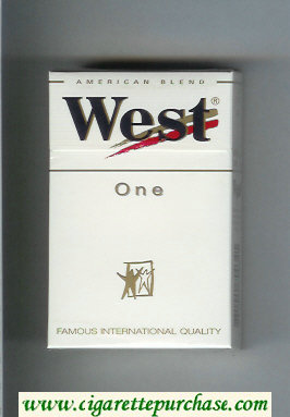West 'R' One American Blend cigarettes hard box