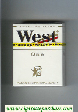West 'R' One American Blend hard box cigarettes