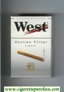 West 'R' Rollies Filter Lights Filter Cigarillos cigarettes hard box
