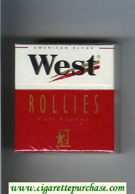 West 'R' Rollies Full Flavor 30 American Blend cigarettes hard box