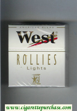 West 'R' Rollies Lights 30 American Blend cigarettes hard box
