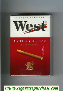West 'R' Rollies Filter Full Flavor Filter Cigarillos cigarettes hard box