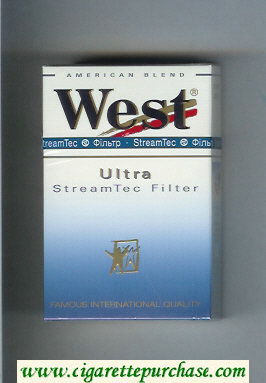 West 'R' Ultra StreamTec Filter American Blend cigarettes hard box