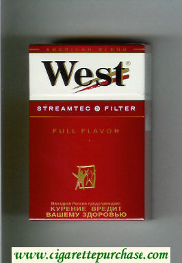 West 'R' StreamTec Filter Full Flavor American Blend cigarettes hard box