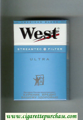 West 'R' Streamtec Filter Ultra American Blend cigarettes hard box