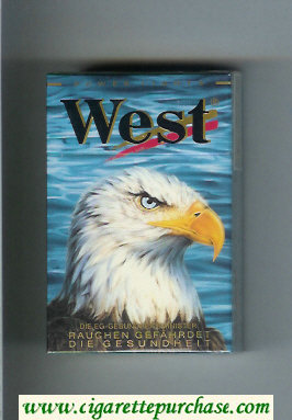 West 'R' 19 Power Lights cigarettes hard box