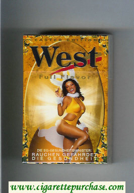 West 'R' Full Flavor Easter Edition cigarettes hard box