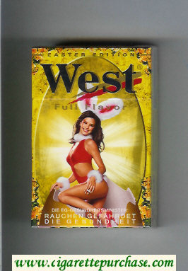 West 'R' cigarettes Full Flavor Easter Edition hard box