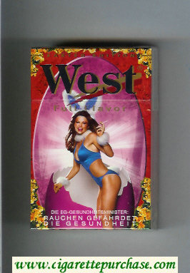 West 'R' hard box Full Flavor Easter Edition cigarettes