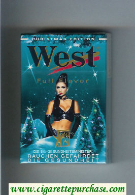 Discount West 'R' hard box Christman Edition Full Flavor cigarettes