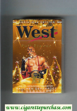 West 'R' Full Flavor Christman Edition cigarettes hard box