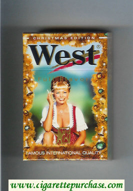 West 'R' cigarettes Full Flavor Christman Edition hard box