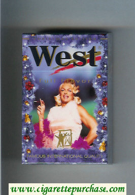 West 'R' hard box Full Flavor Christman Edition cigarettes
