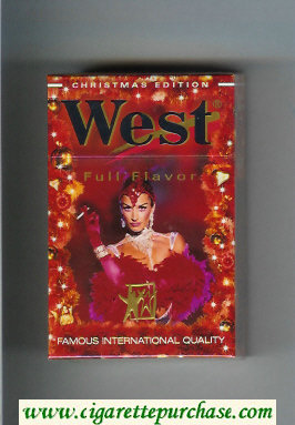 Discount West 'R' Full Flavor Christman Edition 20 cigarettes hard box