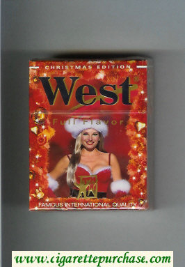 West 'R' Full Flavor Christman Edition Short cigarettes hard box