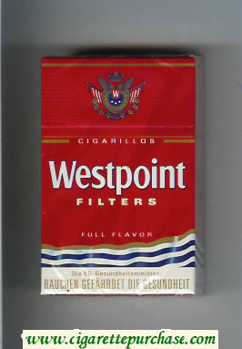 Westpoint Filters Full Flavor Cigarillos cigarettes hard box