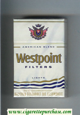 Westpoint Filters Lights American Blend cigarettes hard box