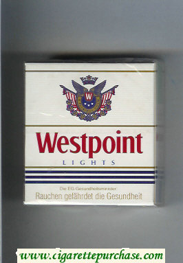Westpoint Lights 30 cigarettes hard box